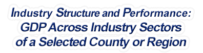 Louisiana - Gross Domestic Product Across Industry Sectors of a Selected County or Region